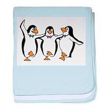 Penguins Dancing baby blanket