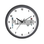 Plumber Pipes Wall Clock