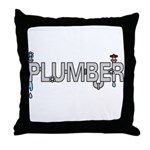 Plumber Pipes Throw Pillow