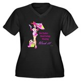 Divas!! Women's Plus Size V-Neck Dark T-Shirt