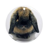 Holland Lop Rabbit Tort Ornament (Round)