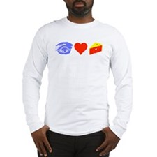 I Heart Cheese Long Sleeve T-Shirt