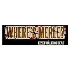 The Walking Dead Merle Bumper Sticker