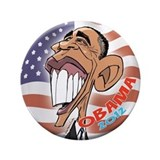 "Barack Obama Cartoon Caricature 3.5"" Button"