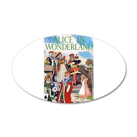 ALICE IN WONDERLAND 22x14 Oval Wall Peel