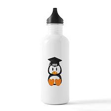Custom Graduation Penguin Water Bottle