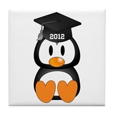 Custom Graduation Penguin Tile Coaster
