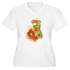 Flaming Dragon -Year Of The Dragon T-Shirt