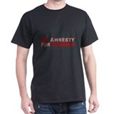 Minuteman No Amnesty D23 Black T-Shirt
