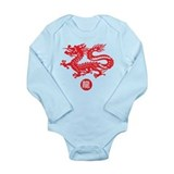 Year of Dragon  Long Sleeve Onesie