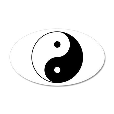 Yin Yang Symbol 38.5 x 24.5 Oval Wall Peel