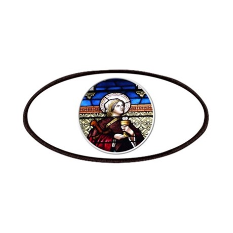 ST. BARBARA STAINED GLASS WINDOW Patches