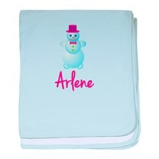 Arlene the snow woman baby blanket