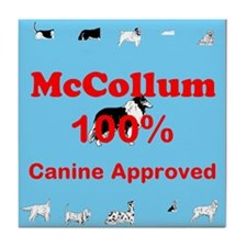 Canine Approved McCollum Tile Coaster