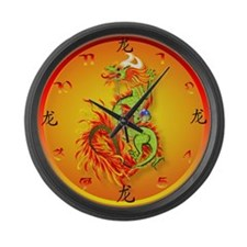 Year Of The Dragon Large Wall Clock
