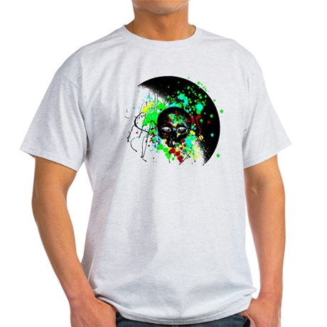 Alien Skull Graffiti Graphic Light T-Shirt