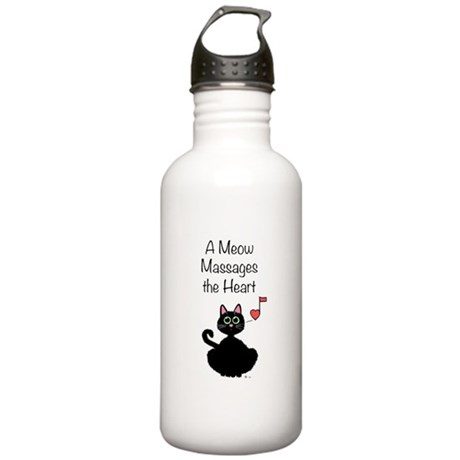 Meow Massages the Heart Stainless Water Bottle 1.0