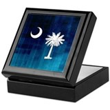 South Carolina Palmetto Flag Keepsake Box