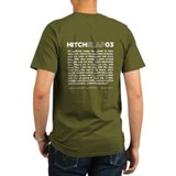 Christopher Hitchens Hitchslap 03 Blue T-Shirt