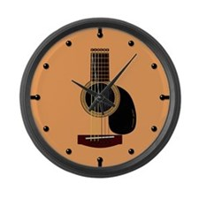 acoustic guitar Large Wall Clock