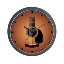 acoustic guitar sunburst Wall Clock