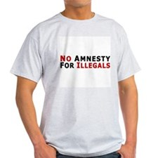 No Amnesty D24 Ash Grey T-Shirt