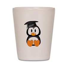 Custom Graduation Penguin Shot Glass