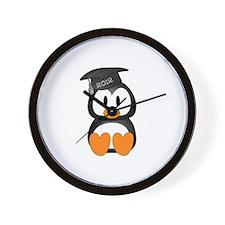 Custom Graduation Penguin Wall Clock