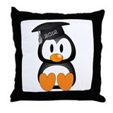 Custom Graduation Penguin Throw Pillow