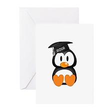 Custom Graduation Penguin Greeting Cards (Pk of 10