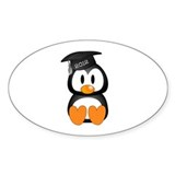 Custom Graduation Penguin  Aufkleber