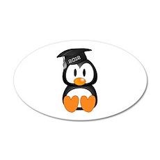 Custom Graduation Penguin 38.5 x 24.5 Oval Wall Pe
