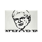Newt Gingrich: Whore Rectangle Magnet (10 pack)