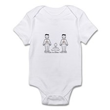 2 Dads (LGBT) Infant Bodysuit