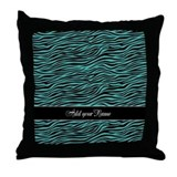 Add NAME Zebra Stripes Throw Pillow