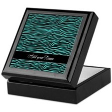 Add NAME Zebra Stripes Keepsake Box