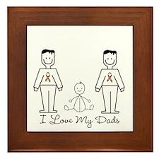 Love My Dads (lgbt) Framed Tile