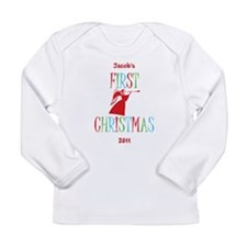 Baby's First Christmas Long Sleeve Infant T-Shirt