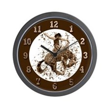 Bronco Rodeo Cowboy, Stunts Wall Clock