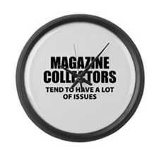 Magazine Collectors Large Wall Clock