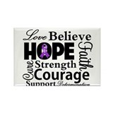 Pancreatic Cancer Hope Rectangle Magnet (10 pack)