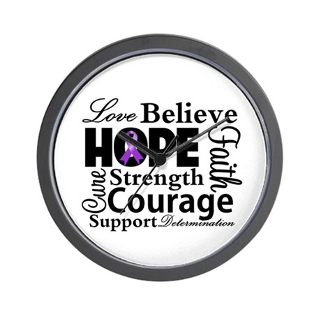 Pancreatic Cancer Hope Wall Clock