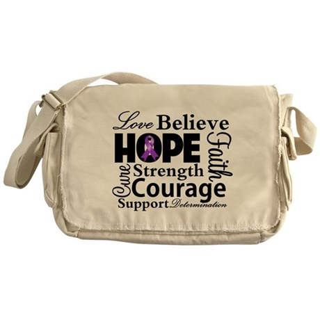 Pancreatic Cancer Hope Messenger Bag