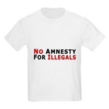 Immigrant No Amnesty D24 Kids T-Shirt