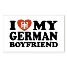 I Love My German Boyfriend Rectangle Decal