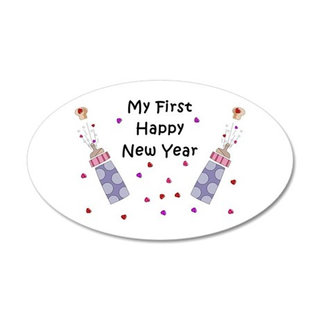 Baby's First New Year 20x12 Oval Wall Decal