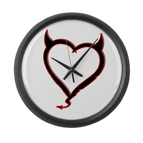 Heart of Satan Large Wall Clock