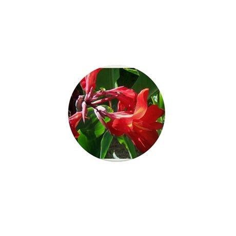Red Canna Mini Button