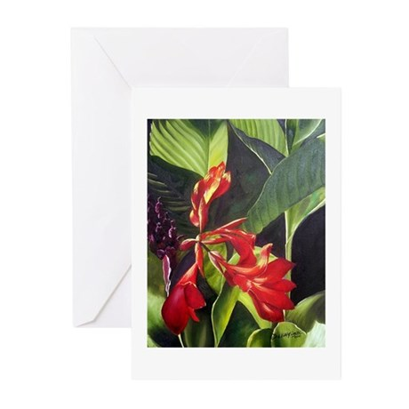 Red Canna Greeting Cards (Pk of 10)