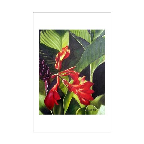 Red Canna Mini Poster Print